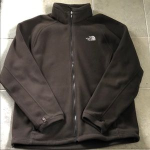 Men's North Face Brown ZIP Fleece Jacket